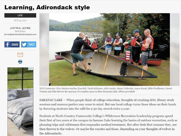 Adirondack Daily Enterprise story
