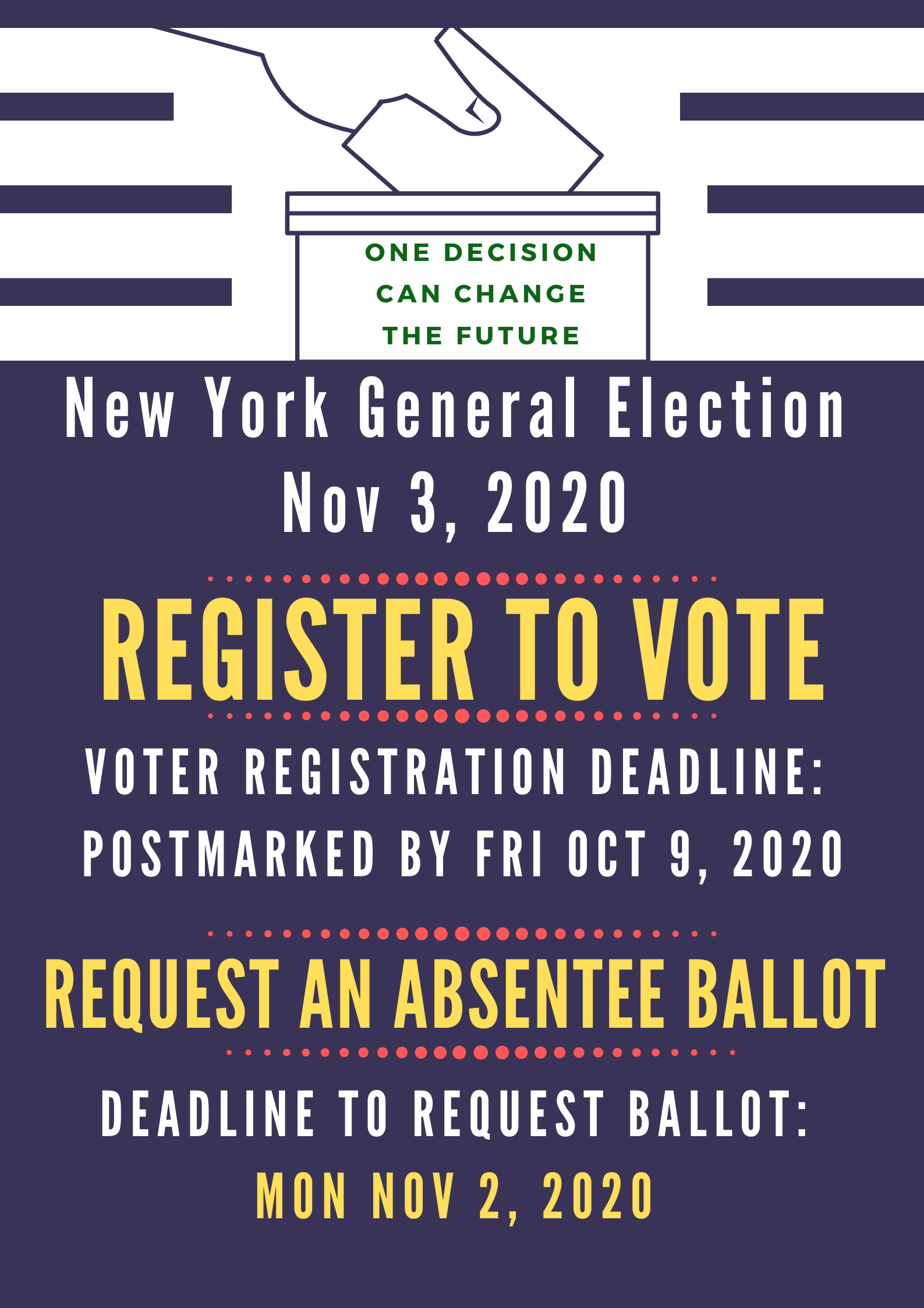 New York State Voting Dates to Remember
