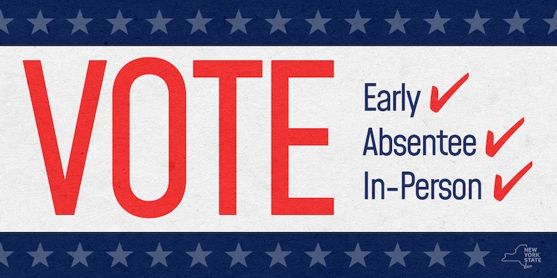 NYS Vote Early Absentee or In Person